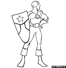 Captain Brave Coloring Page