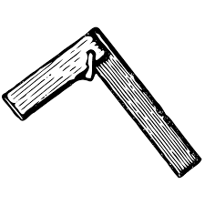 Clipart Of A Sketched Carpenter