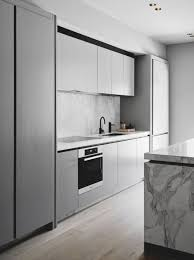 modern light grey kitchen cabinets