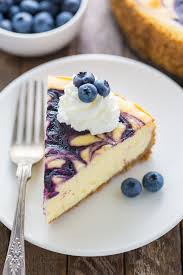 Rich and creamy White Chocolate Blueberry Cheesecake