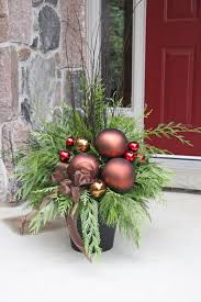 Outdoor Christmas Decorations Ideas Pinterest by Images About Christmas Ideas On Pinterest Outdoor Planters And