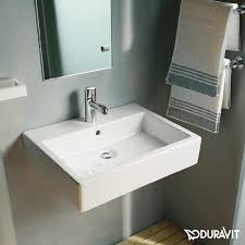 duravit vero washbasin white with wondergliss with 1 tap hole