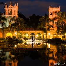 Balboa Park Halloween by The Nolen Rooftop San Diego Engagement Avie U0026 Deepak
