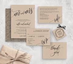 Wedding Invitation Template Instant Download Rustic Diy Rsvp Cards