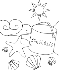Beach Coloring Pages Preschool