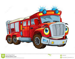 100 Funny Truck Pics Cartoon Happy And Looking Fireman Bus Or Smiling Stock