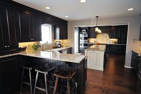 Kitchens With Dark Cabinets And Wood Floors by Dark Cabinets Kitchen Ideas Classic Mid Century White Wooden