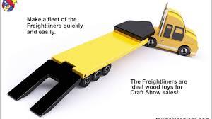 wood toy plans freightliner trucks trio youtube