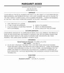 Assistant Store Manager Resume Astonishing Retail Examples Bank