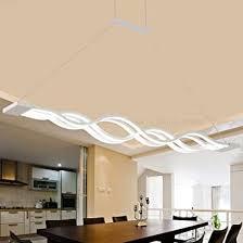 pendelleuchte dimmbar led esstisch esszimmerle moderne kreative designer lüster höhenverstellbar metall welle decken leuchte jugendzimmer