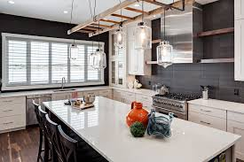Rustic Pendant Lighting Kitchen Transitional With Counter Chairs Custom Hoodfan