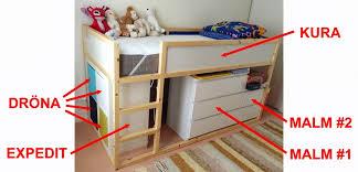 Kura Bed Instructions by Materials Kura Malm Expedit Drona Mammut Formica Board