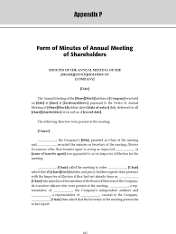 Corporate Meeting Minutes Form
