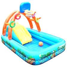 Plastic Pool With Slide Kid Hard Kiddie For Sale