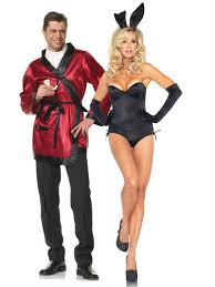 Purge Halloween Mask Couple by Couples Costumes Hef Jacket And Playmatebunny Couplescostumes