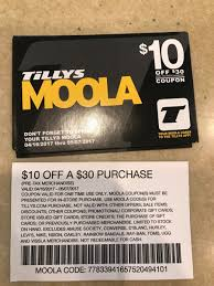 Tillys Moola Coupon Code - September 2018 Store Deals 24 Hour Membership Promo Code Sygic Codes U Drive Discount Coupon Binder Starter Kit Scrubs And Beyond Coupon Redeem Coupons Gift Cards Teavana Canada Dog Park Publishing Schlitterbahn Disney World Tickets Yes Dvd Red Tag Clothing Trivia Crack Ikea June 2019 Target Sports Bra Groupon 20 Off Lax Billabong All Inclusive Heymoon Resorts Mexico Mgaritaville Store Novelty Light Polysporin Tool King