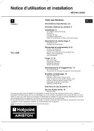 notice seche linge hotpoint ariston hotpoint ariston tcl 93b 6h z1 fr manuel d utilisation pages 16