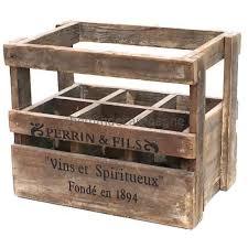 caisse a vin en bois caisse casier porte bouteilles en bois de style ancien 35 50 cm