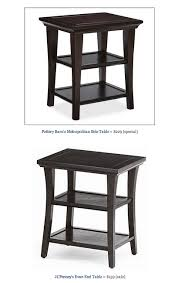 copy cat chic find pottery barn s metropolitan side table vs