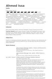 Administration Manager Admin Finance Hr Personnel Business Development Resume Samples