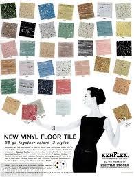 Vintage Vinyl Tile Colors LIFE Oct 8 1956 Kenroyal