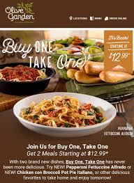 Olive Garden Buy e Get e FREE Lunch