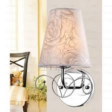2 light fabric shade craftsman style wall sconces home