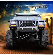 5x7 Inch Led DRL Truck Headlights 6x7