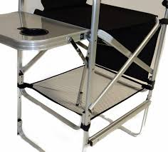 Professional Tall Folding Directors Chair by Tall Director Chair W Side Table And Cup Holder