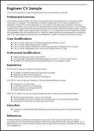 Engineer CV Sample