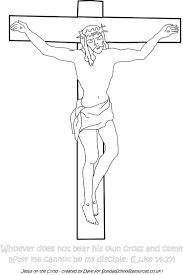 Sunday School Coloring Page Jesus On The Cross