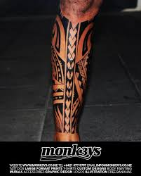 Polynesian Tribal Full Calf 2 By Monk3ys Tattoos