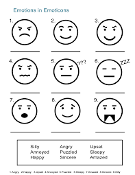 Coloring Pages Emotions Facial Expressions 1