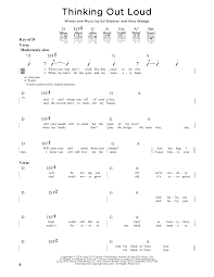 Rocket Smashing Pumpkins Tab by Thinking Out Loud Sheet Music By Ed Sheeran Guitar Lead Sheet