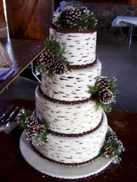 Simple Rustic Winter Wedding Cakes Ideas 36