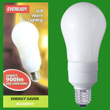 1x 20w low energy cfl power saving light bulbs gls es e27 ls