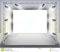 Show Empty Fashion Stage With Runway Vector Illustration Stock Photos