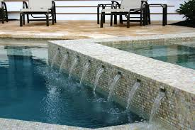 swimming pool glass tile design waterline traditional