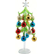 Glass Christmas Trees With Ornaments Beautiful Handcrafted Tree Art For The Holiday Season At Songbird Garden