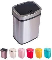 sensor mülleimer 12 liter automatik abfalleimer bunt push kücheneimer umweltfreundlich küche bad wohnzimmer 12 l edelstahl