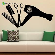 Hair Salon Tools Wall Decal Vinyl Stickers Hairdressing Beauty Interior Design Art Murals Decor Living