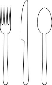 outline of knife fork spoon Google Search