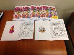 Mini Coloring Book Made From Shopkins Pages