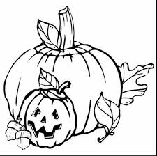 Unbelievable Black And White Fall Clip Art With Printable Coloring Pages Pumpkin