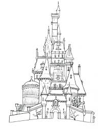 Castle Coloring Pages Printable Free Kids Sheets Disney Princess World Page Sheet Large Size