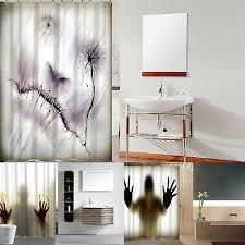 badezimmer duschvorhang 3d druck weltraum bad vorhang
