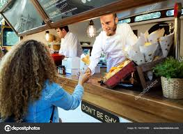 Beautiful Young Woman Buying Barbecue Potatoes On A Food Truck ... Tampa Area Food Trucks For Sale Bay Used Truck New Nationwide Bangkok Thailand February 2018 Stock Photo Edit Now The 10 Most Popular Food Trucks In America Woman Is Buying At Truck York License For 4960 Home Company Ploiesti Romania July 14 Man Buying Fresh Lemonade From People A Hvard Square Cambridge Ma Tulsa Rdeatlivecom Blog Rv Buying Guide Narrowing Down Your Type Go Rving Customers Bread From Salesman Parked On City