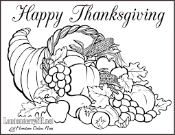 Thanksgiving Coloring Pages Pdf Trafic Boosterbiz Drawing