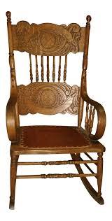 Antique Larkin Soap Company Ribbon Back Oak Rocking Chair