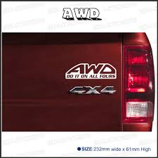 Free Shipping 1PC Do It On All Fours AWD Diesel 4x4 4WD Off Road ... Stickers Rhaksatekcom Lifted Chevy Diesel Trucks For Sale With Dpc2017 Day 1 Registration And Social Time Hino Aftermarket Decal Sticker Dirty Money Banner Truck Duramax F250 Vinyl Powered By Bitch Dust Car Window Stickers Diesel Funny Girl Just Saw This Bumper Sticker On A Jacked Up Truck Calgary Amazoncom Dabbledown Decals Large Car Window Bahuma Diessellerz Home If You Think My Is Smokin Should See Wife